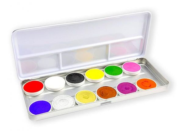 Superstar Schminke Farbpalette mit 12 Farben