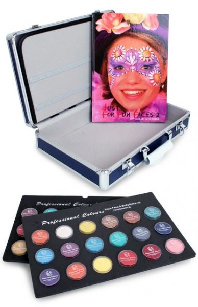 PXP Schminke Koffer mit 36x10g Schminke Gläser und Schminkbuch