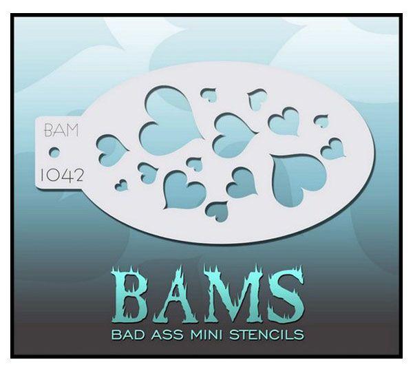 Bad Ass BAM Schminkvorlage herzen 1042