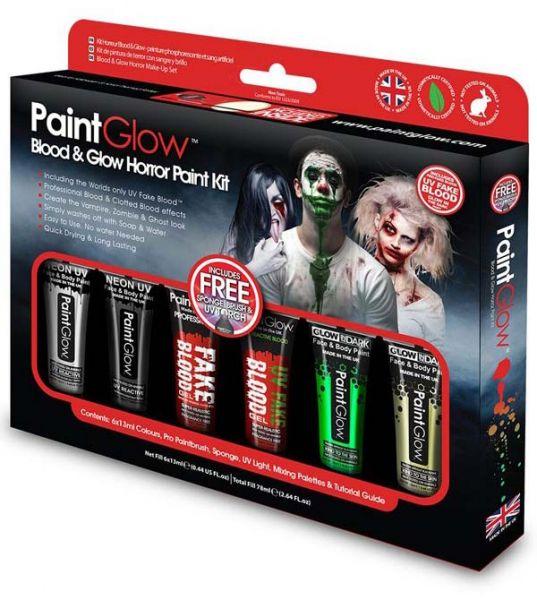 PaintGlow Blood Glow Horror Halloween Schminke kit