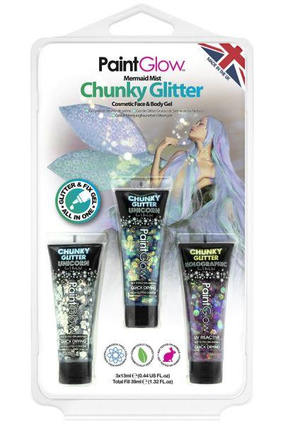 PaintGlow set chunky glitter gel Mermaid Mist