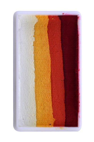 PXP One Stroke Split Cake rot orange gelb weiß PartyXplosion