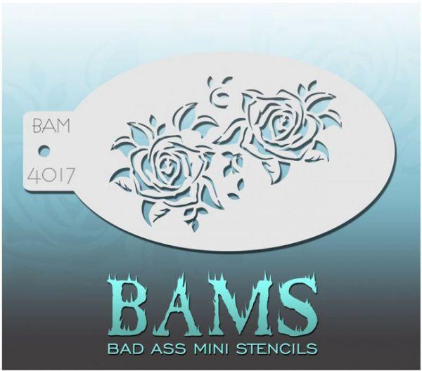 Bad Ass BAMS schminkschablone 4017 Rosen
