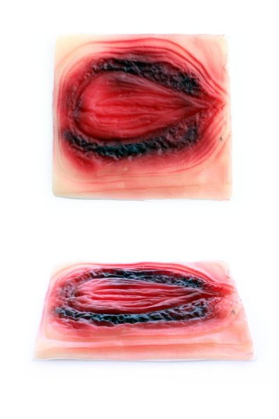 Brandnarbe oval Blut