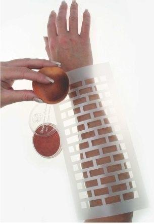 Face Paint Template Bricks