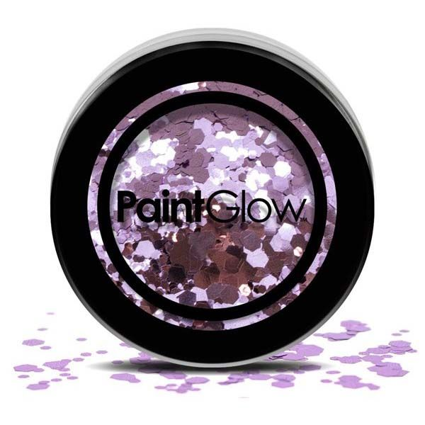 PaintGlow Chunky cosmetic glitzer Purple Helter Skelter