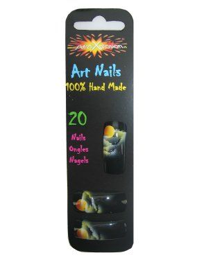 Halloween bat slice nails exclusive glue
