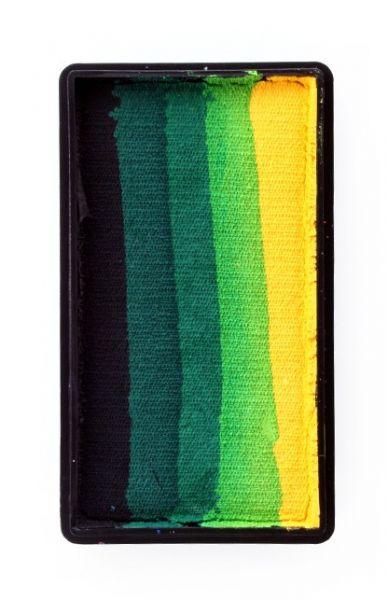 PartyXplosion Split Cake schwarz dunkelgrün grün hellgrün gelb PXP