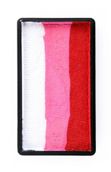 PXP Split Cake Schminkfarben rot pink weiß PartyXplosion