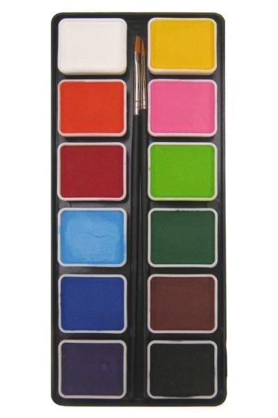PartyXplosion Schminkpalette Grundfarben mit PXP Pinsel