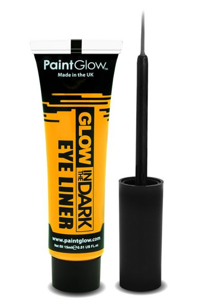 Glow in the dark eyeliner UV neon yellow