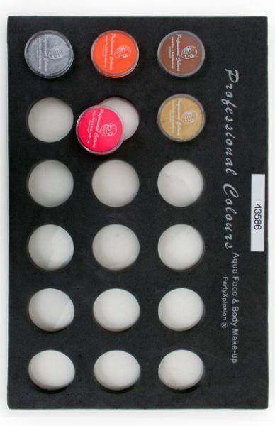 PXP Schminkkoffer Einlagen Tray für 10-Gramm-Gläser
