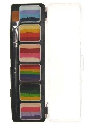 PXP Special FX Schminke 6 x 6 Gramm Split cake Palette mit Pinseln