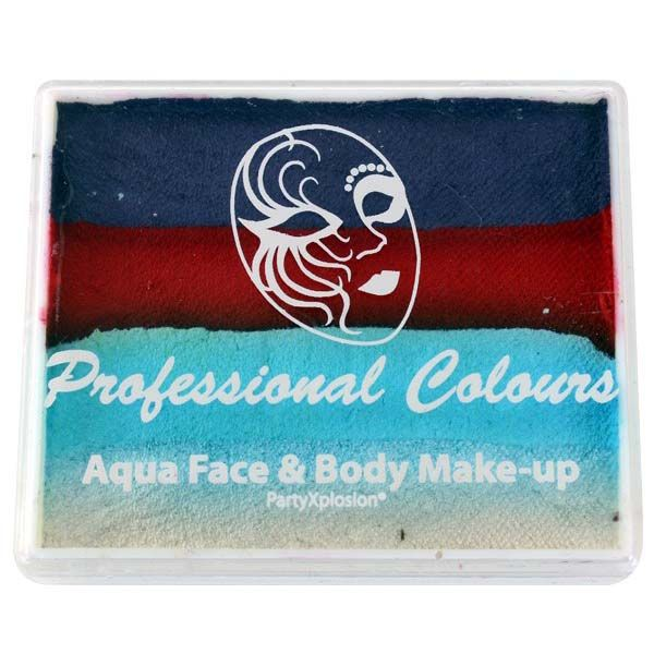 Aqua face & body paint purple metallic blau hellblau weiß