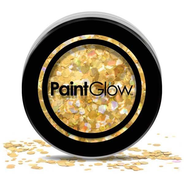 PaintGlow Chunky cosmetic glitzer Gold Digger