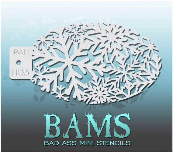 Bad Ass BAMS schminkschablone H03