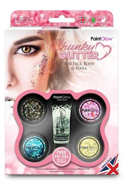 Paintglow Chunky Glitzer Box Pink