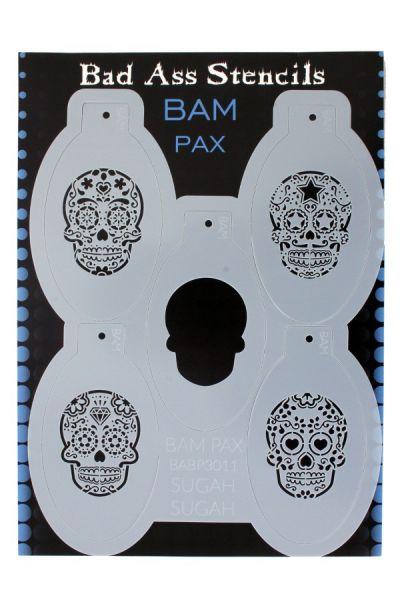 Bad Ass BAM PAX Schminke Vorlagen 3011 Sugar skull Day of the Dead