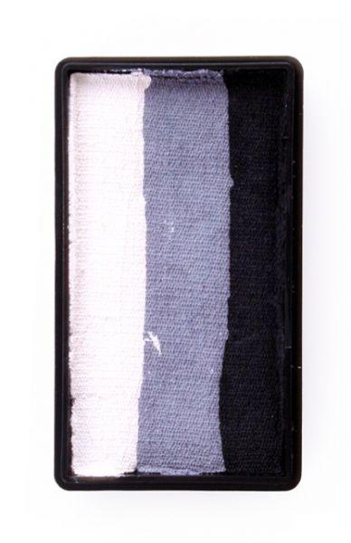 PXP Split Cake Schminkfarben schwarz grau weiß PartyXplosion