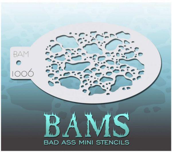 Bad Ass BAMS schminkschablone 1006