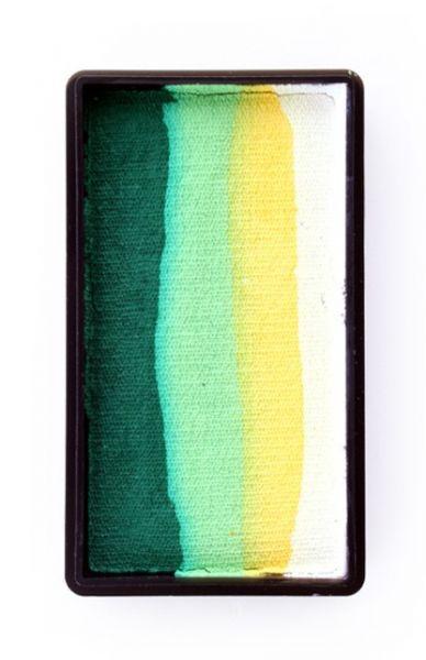 PXP One Stroke Schminkfarben weiß gelb lime donkelgrün PartyXplosion
