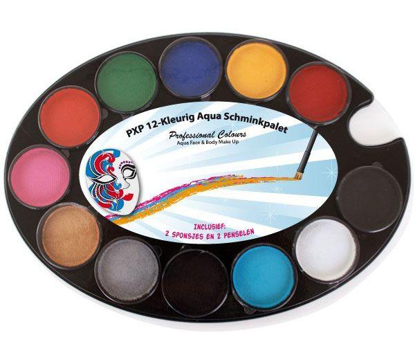 PartyXplosion 12-farbige PXP Schminke Palette