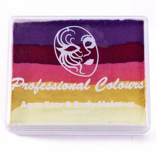 One Stroke splitcake Violet Red Pink Metallic Yellow White