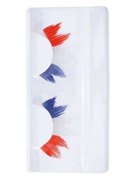 Wimpern spitze rot weiß blau